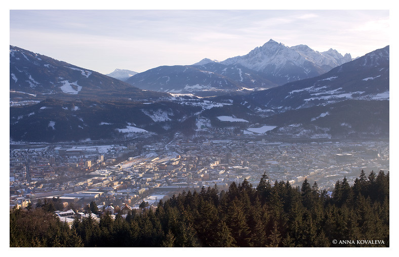 View of Innsbruck from above