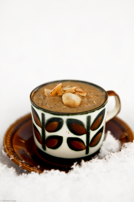 ricepudding with coffee