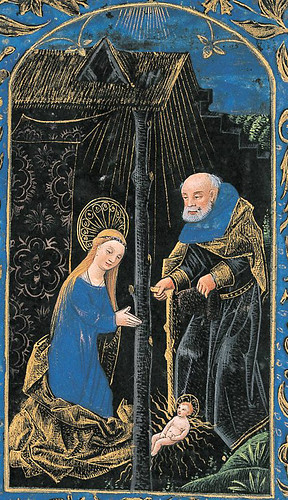 007-Natividad-Horas de la Virgen-Prima-detalle-- The Black Hours-Ms M.493- fols. 50v -© The Morgan Library & Museum