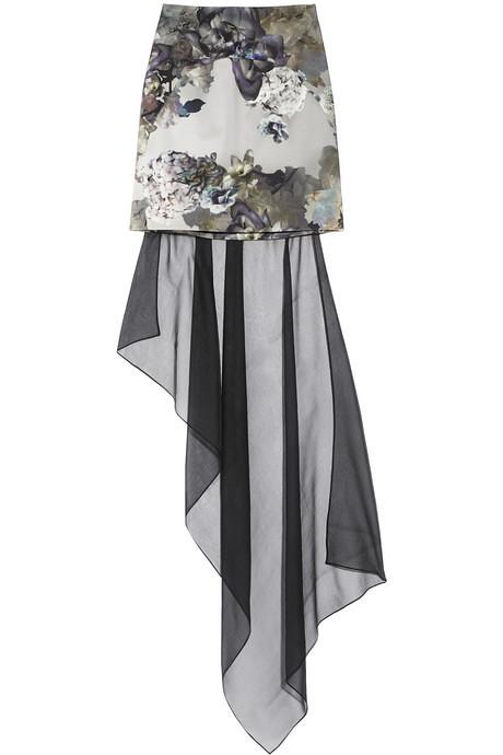 aminaka wilmont printed chiffon skirt via nap 1