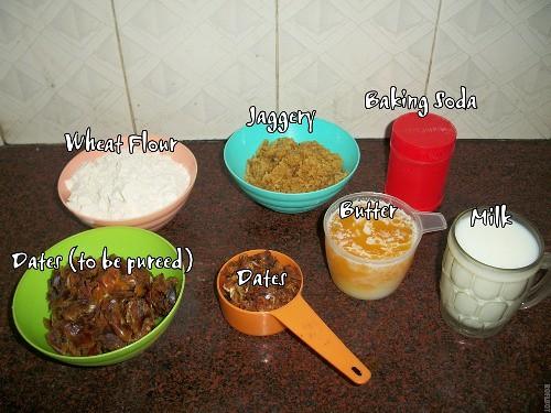Date cake recipe eggless