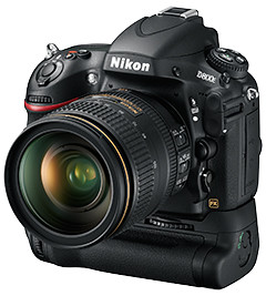 Nikon D800E with a battery grip