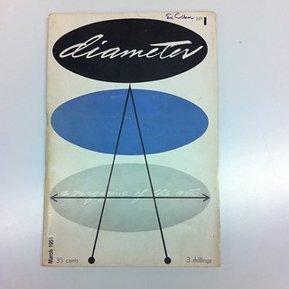 "Lester Beall's design for ""Diameter, A Magazine of the Arts"", March 1951"