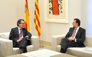Reunion de Artur Mas y Mariano Rajoy