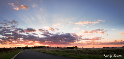 Sunset panorama 8-2-2012