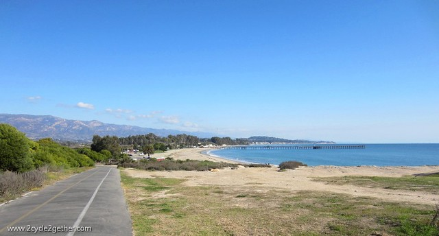 View of Goleta from bike path