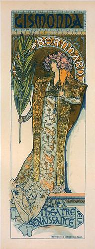 003-Affiche pour le Théâtre de la Renaissance,Gismonda. (1896-1900) -NYPL