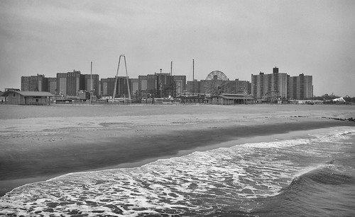 Coney Island Beach during Winter