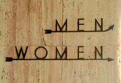 Restroom sign on Hoover Dam Exhibit Gallery