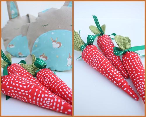 bunny softie (+ carrot)