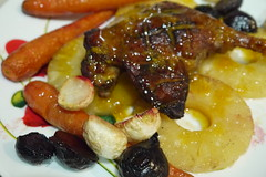 Allspice and Pineapple Duck with Root Vegetables a…
