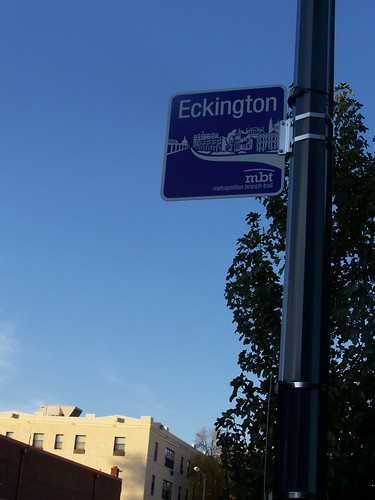 Eckington Metropolitan Branch Trail sign