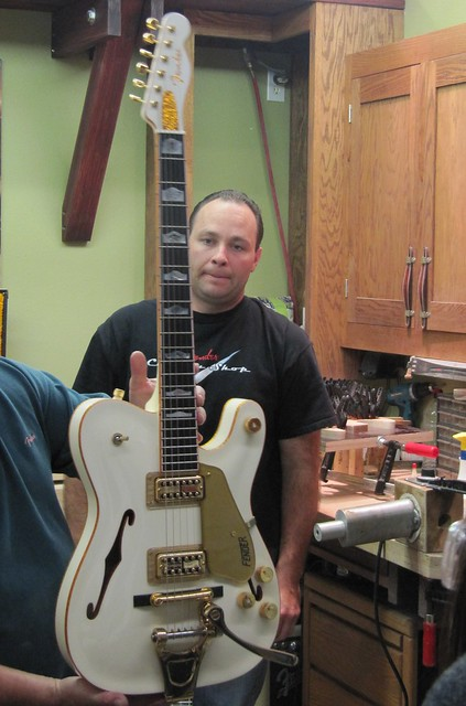 Photo:Fender Guitar Factory custom Strat Gretsch mix By Mr. Littlehand