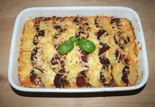 30 - Rote Beete-Kartoffel-Gratin / au gratin beetroot potatoes  - Fertig-gebacken