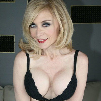 Blonde mature babe Nina Hartley is showing her big tits in stockings № 498298 бесплатно
