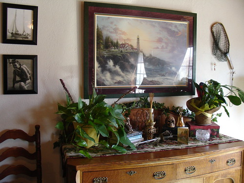 Buffet in Family Room - Autumn