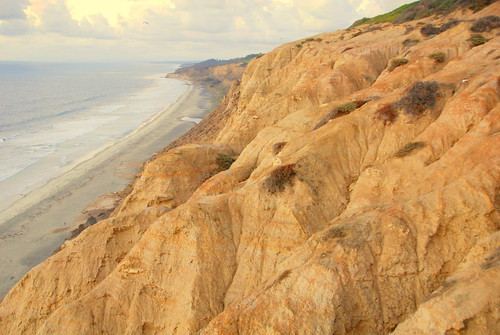 Cliffs over Black's Beach, San Deigo, California