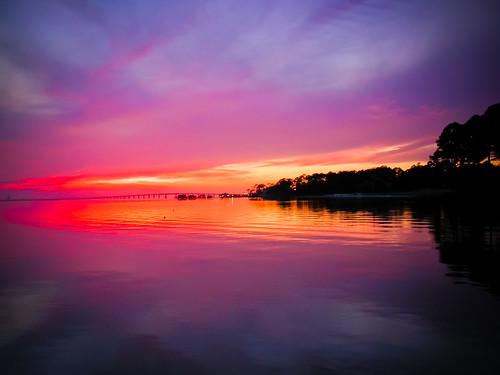 2003 park bridge sunset beach water beautiful florida roadtrip fl rv fla pensacola rvpark emeraldbeach
