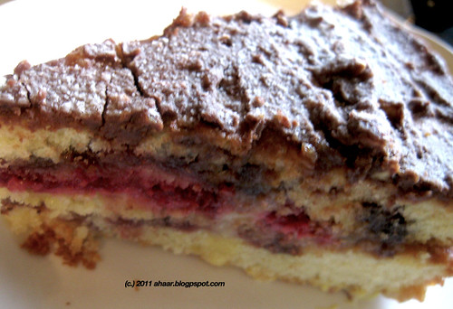 Nutella and Raspberry jam cake