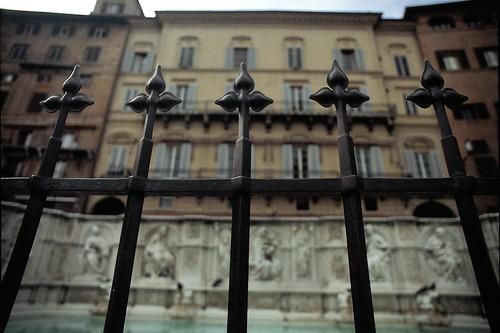 Siena, Brunnen auf der Piazza del Campo