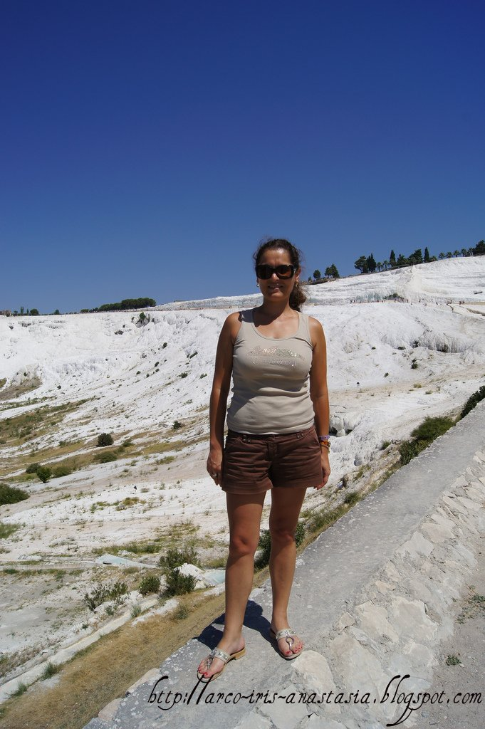At the feet of Pamukkale