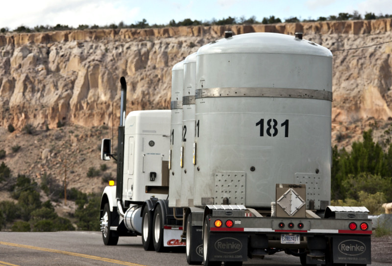 LANL's shipment of transuranic waste leaves Los Alamos.