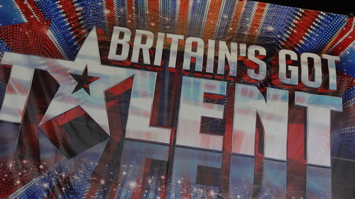 Britain's Got Talent banner at the ExCeL for auditions by Ben Sutherland