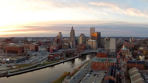 Aerial view of Providence RI