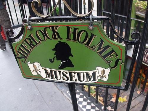 The Sherlock Holmes Museum - 221b Baker Street, London - sign