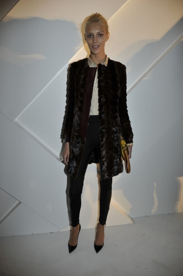 5 - Anja Rubik wearing Burberry at the Burberry Paris event