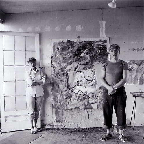 Willem and Elaine de Kooning, 1953, photograph by Hans Namuth by dou_ble_you