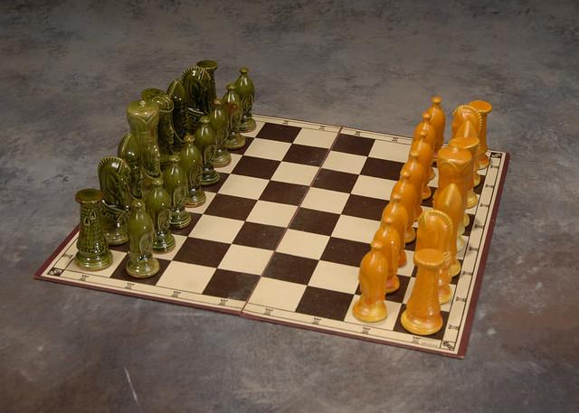 Ceramic chess set eames era flickr photo sharing - Ceramic chess sets for sale ...