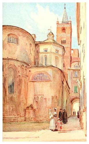 010-Iglesia romana de Albenga-An artist in the Riviera (1915)-Walter Tyndale