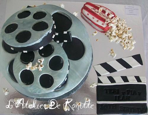 Film şeridi 10 yaş doğumgünü pastası by l'atelier de ronitte