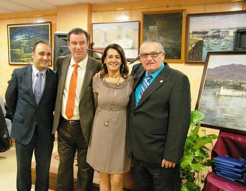 Autoridades y presidente Casa de Melilla