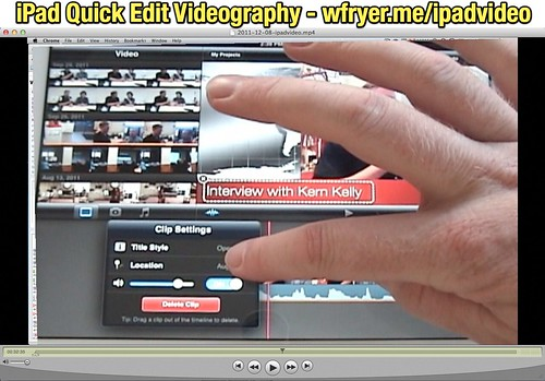 iPad Quick Edit Videography
