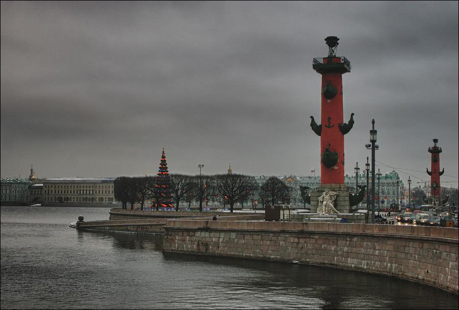 Ростральная колонна, Санкт-Петербург, Россия