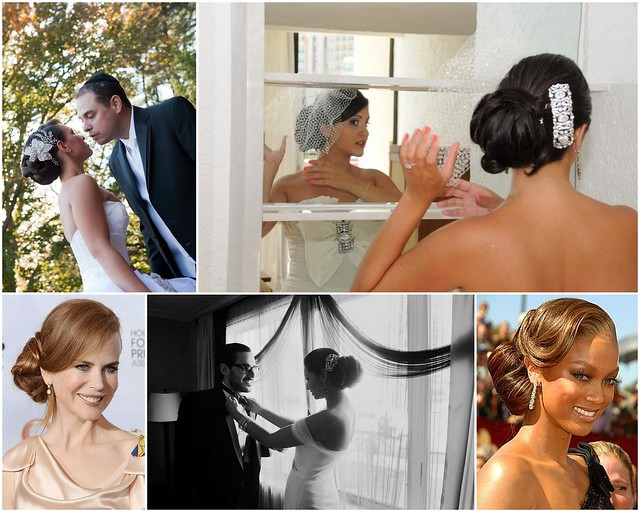 Low bun bridal hair inspiration