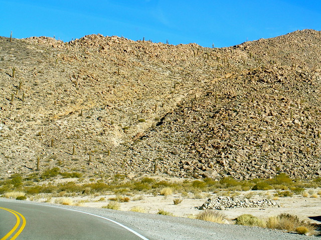 Dry rocky terrain in Jujuy, Argentina