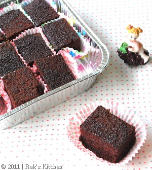 Eggless Chocolate Cake Raks