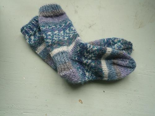 Blue socks for Max
