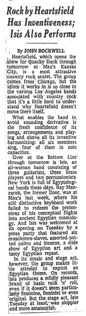 06-15-74 NYT Review - Heartsfield @ Max's Kansas City