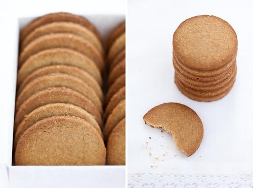 Sablé semi-integrali con farina di castagne e noci