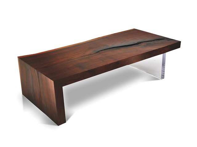 Single Slab Live Edge Walnut Coffee Table Acrylic Base Flickr Photo Sharing