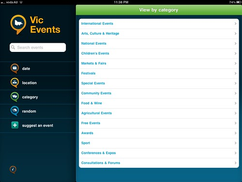 iPad Apps Vic Events (Free)
