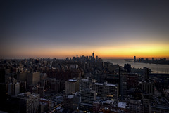 HDR Manhattan Orange Sunset