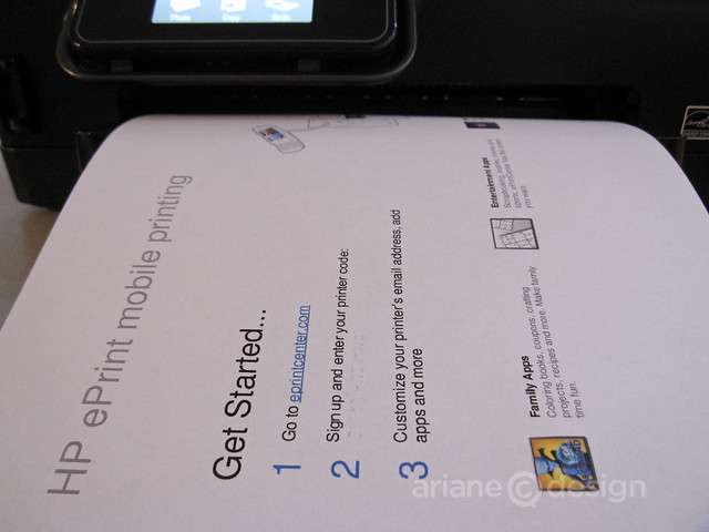 HP Photosmart 6510 receiving ePrint code (step 2, code whited out)