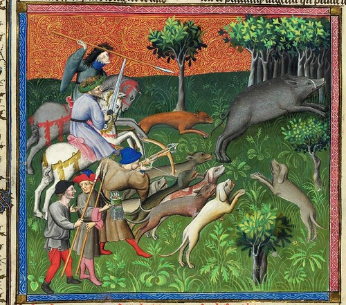 012-Le Livre de la chasse-1407- Gaston Phoebus- MS M. 1044 – fol. 83v-detalle -© The Morgan Library & Museum