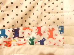 Cats & Stars - once upon a time ago all of my quilts had one or the other - all of them!
