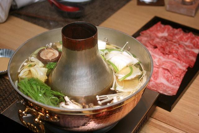 Shabu shabu with premium wagyu beef
